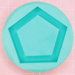 Coaster / Tray Mold -  Pentgagon (Backed) - Chala Atelier & Supplies