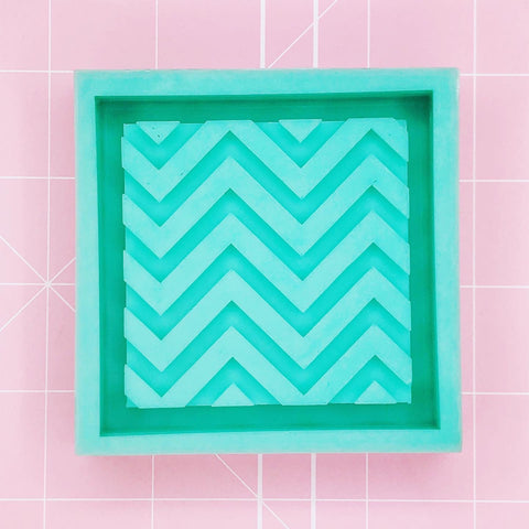 Square Mold - Vaporwave Chevron Background (Backed) - Chala Atelier & Supplies
