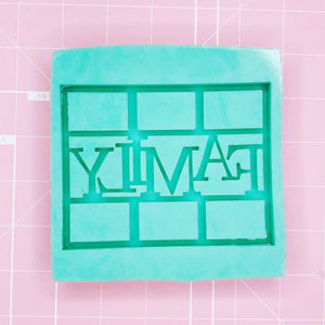 Frame Mold - Family Frame (Backed) - Chala Atelier & Supplies