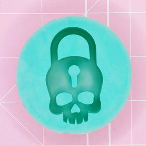 Round Mold - Skull Lock Pendant / Small (Backed) - Chala Atelier & Supplies