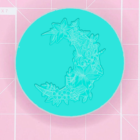 Single Cavity Mold: Moon Flower - Tropical (Flat) [Etched / Solid]