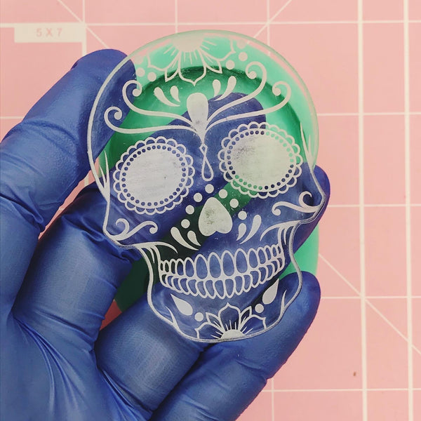 Oval Mold -  Sugar Skull v2 - Chala Atelier & Supplies