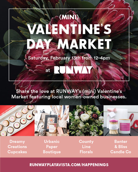 Urbanic at RUNWAY in Playa Vista for a mini Valentine's Day Market