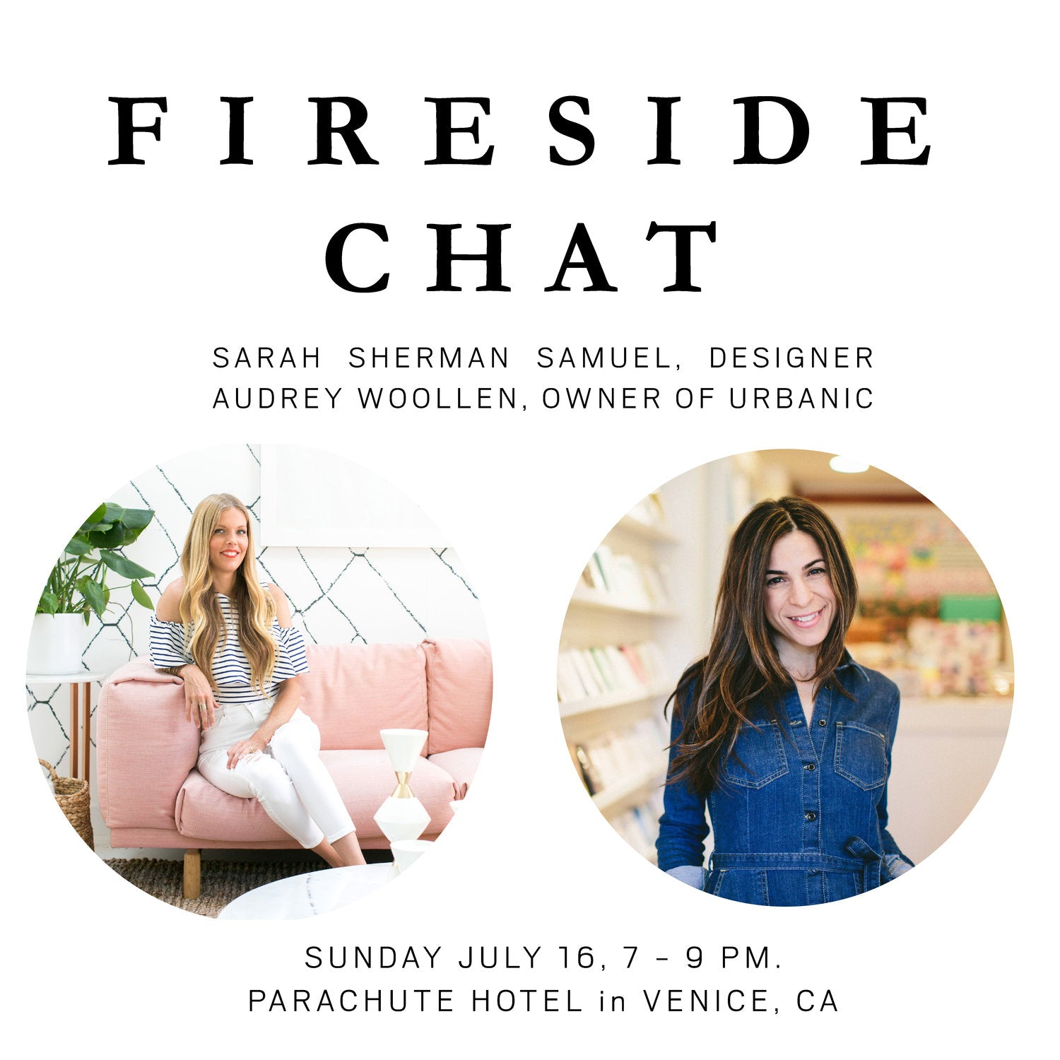 July fireside graphic