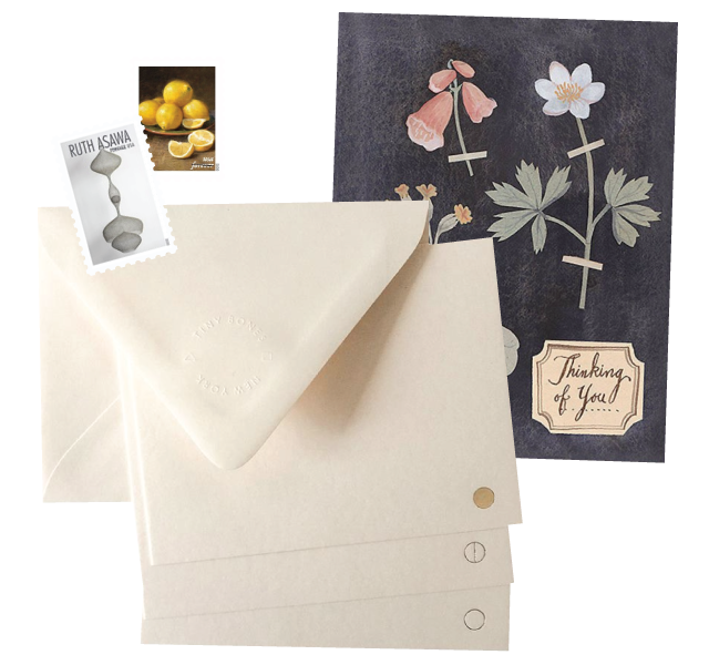 Collage of stationery and stamps