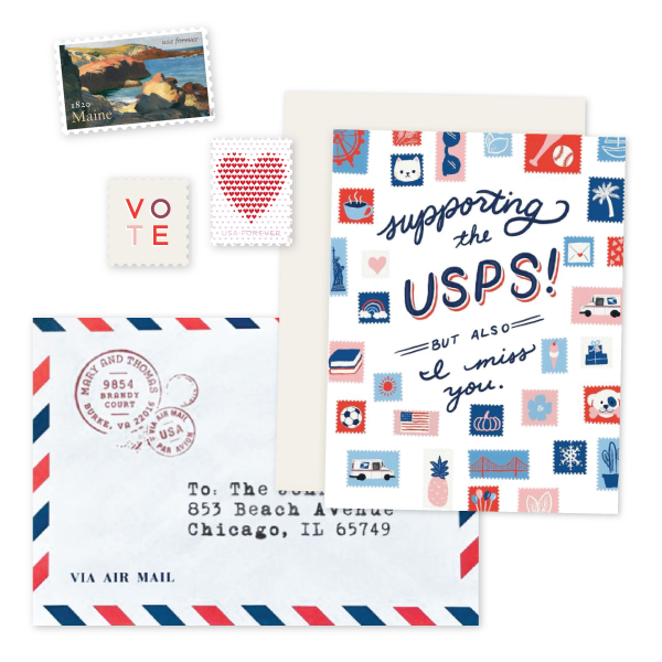 Support USPS with more mail and stamp purchase