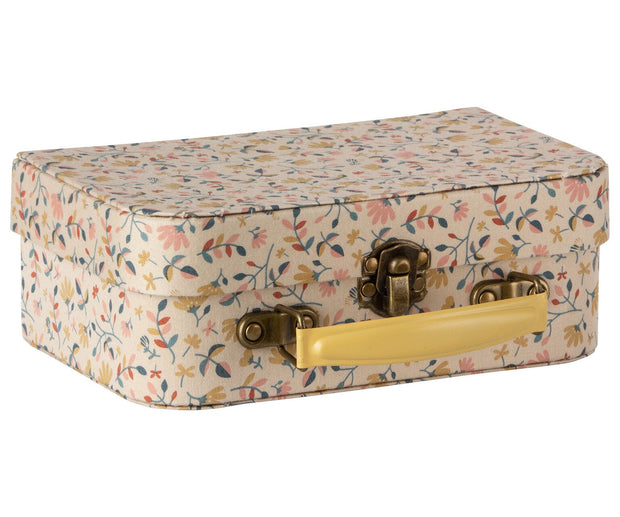 floral fabric suitcase
