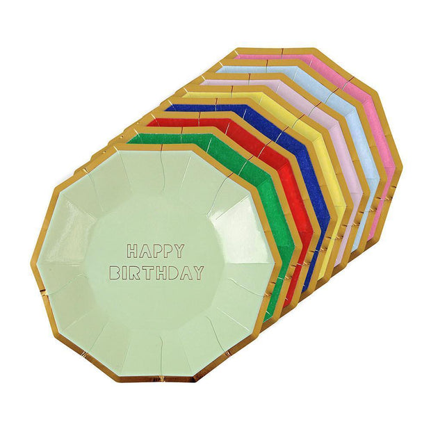 happy birthday plates - small & large sizes