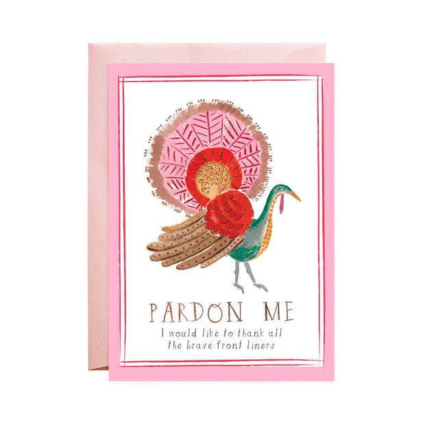 pardon the turkey thanksgiving card