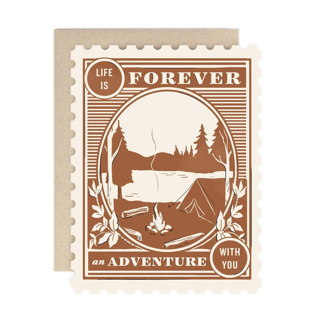 forever an adventure with you card