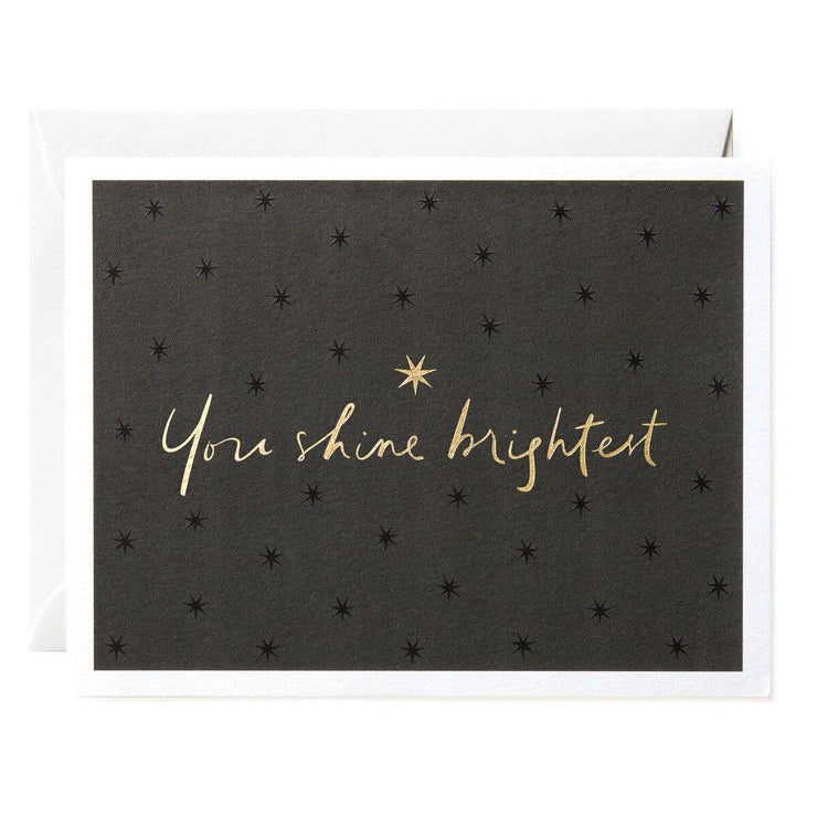 you shine brightest card