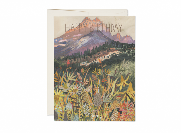 colorado gold foil birthday card