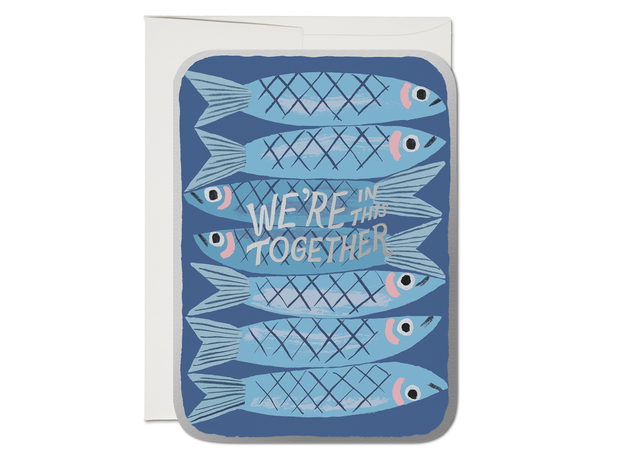 sardines die cut encouragement card