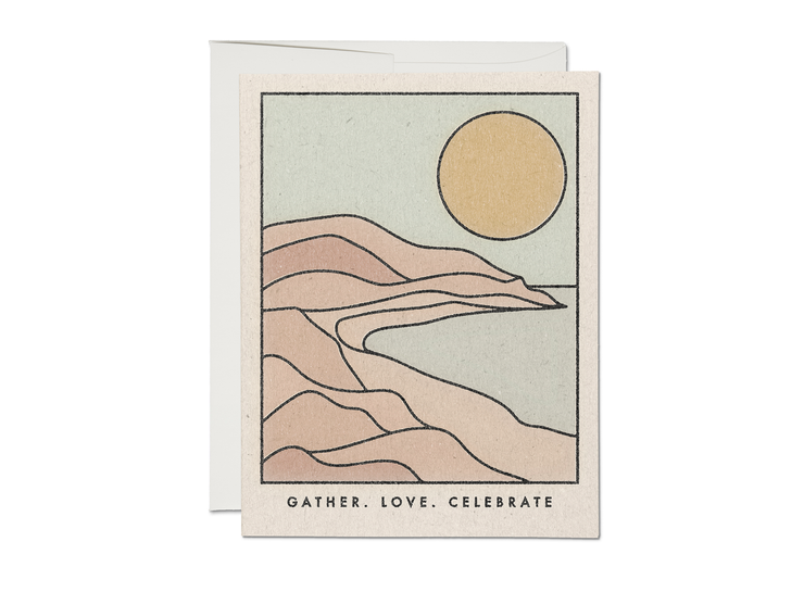gather love celebrate coastline card