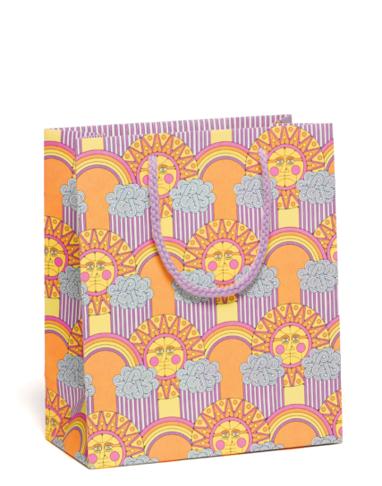sun and rainbows medium gift bag