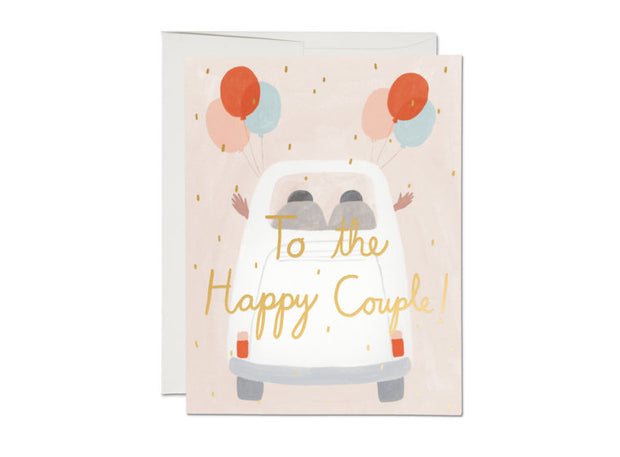 away they go wedding card