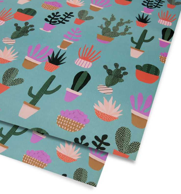 cactus wrapping sheet