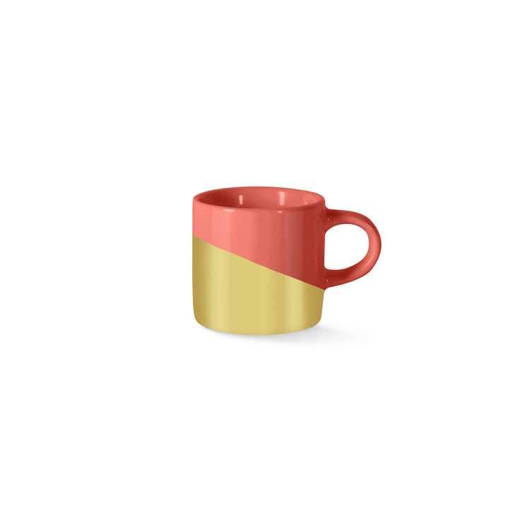 gold dip mini mug set of 2
