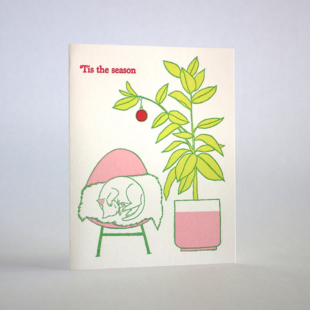 tis the season house plant card