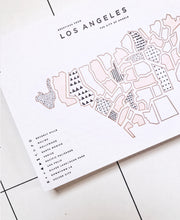 los angeles neighborhoods postcard / print