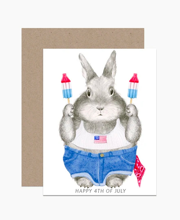 4th of july bunny card