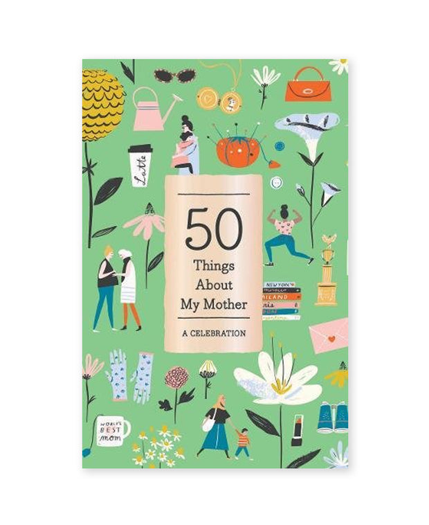 50 things about my mother fill-in book