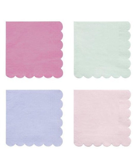 simply eco mixed colors napkins - large