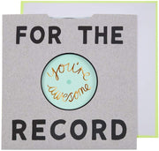 for the record card