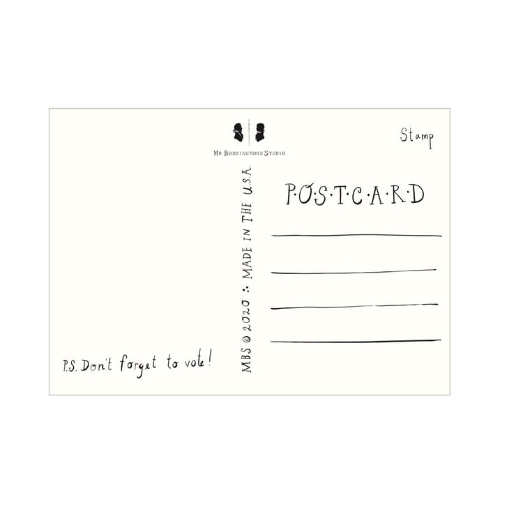 go vote! postcards - set of 10 (plus 10 free postcard stamps!)