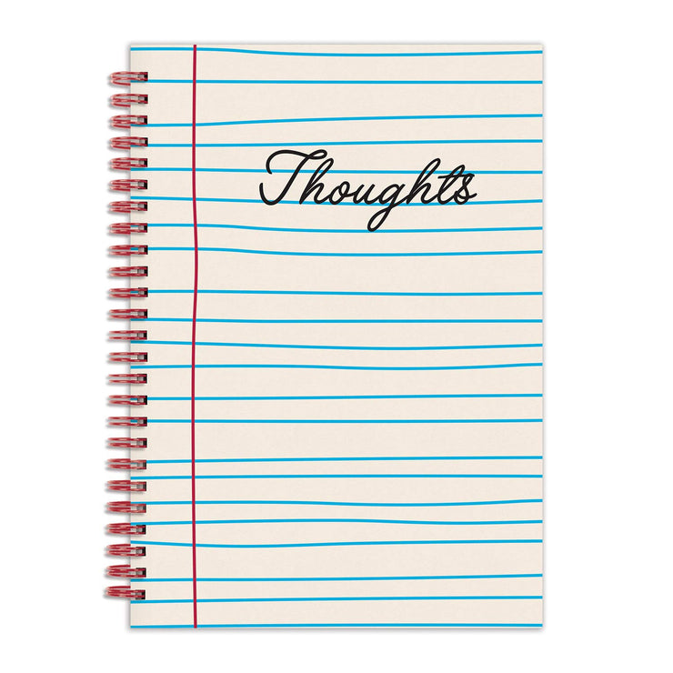 thoughts lined notebook