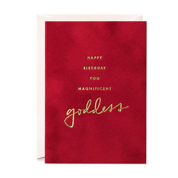 magnificent goddess velvet greeting card