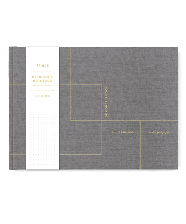 designer's dot grid cloth notebook