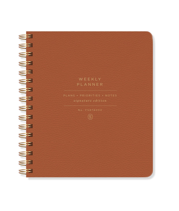 cognac undated weekly planner