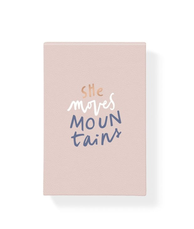 she moves mountains hardcover notepad