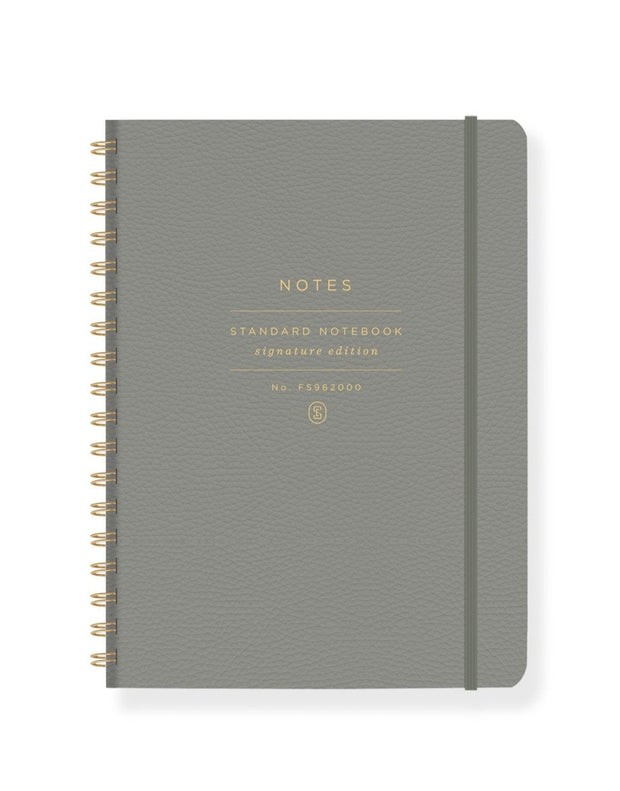 sage faux leather spiral notebook