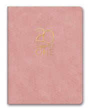 2021 leatheresque large monthly planner - practically pink or charcoal gray