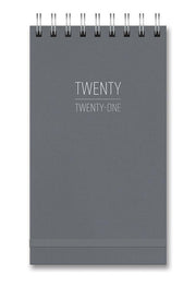 2021 pebble gray top-spiral weekly planner