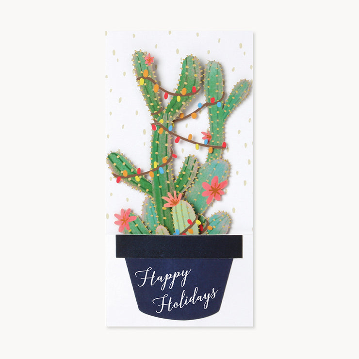 christmas cactus pop-up card