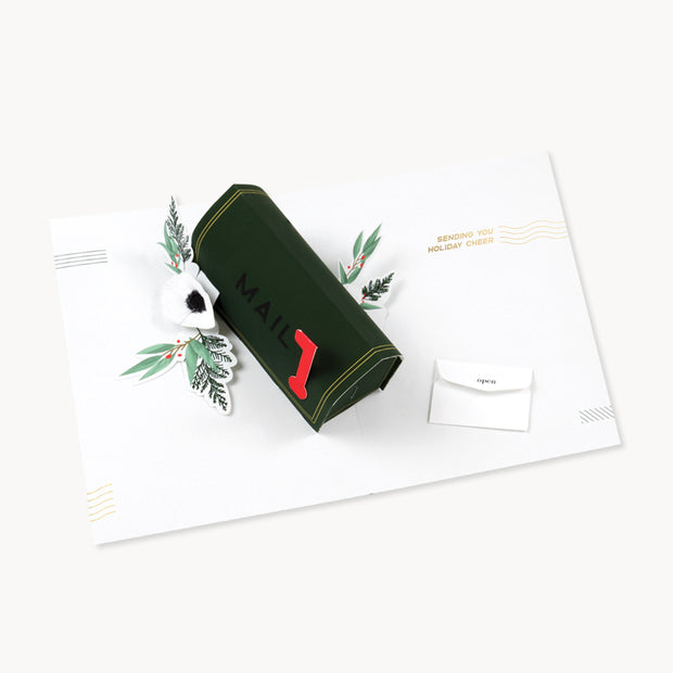 christmas mail pop-up card