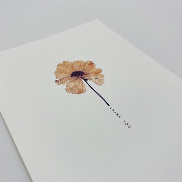 thank you pressed flower card