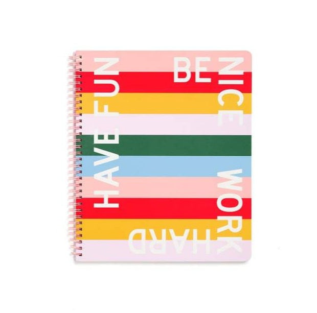 have fun be nice - rough draft large notebook