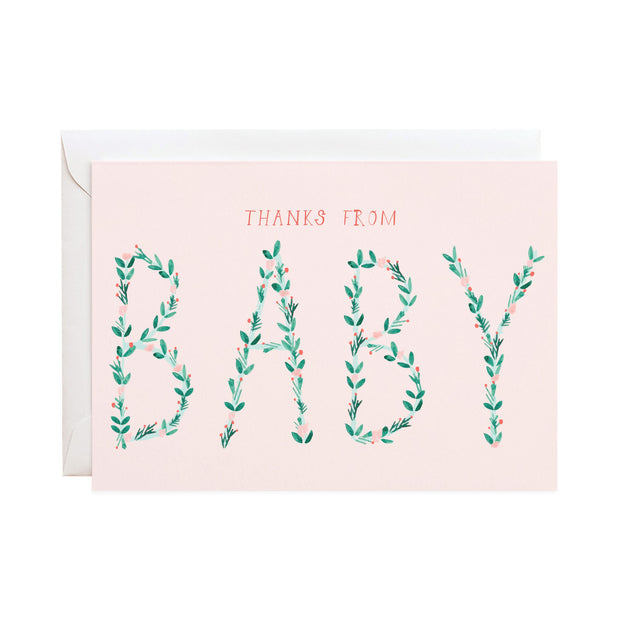 thanks from baby cards -set of 6