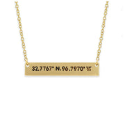 coordinates city necklace - los angeles