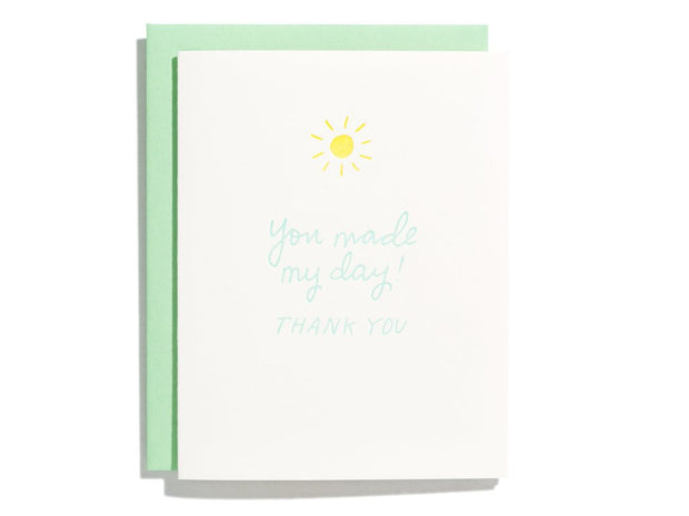 made my day thanks card - single or set of 6