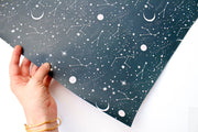moon and stars wrapping sheet