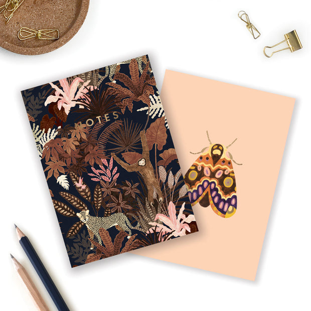 monkey & butterfly a6 notebook set
