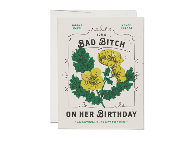 bad bitch birthday card