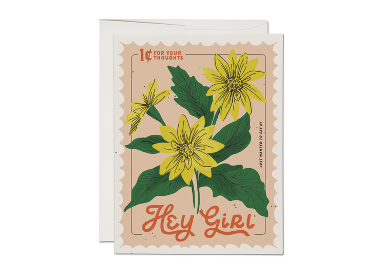 hey girl stamp card