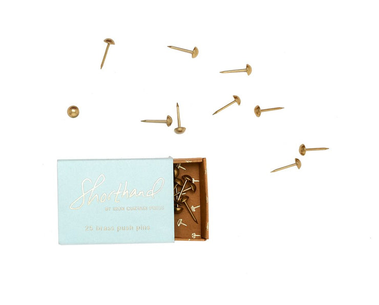 brass push pins - dome shape
