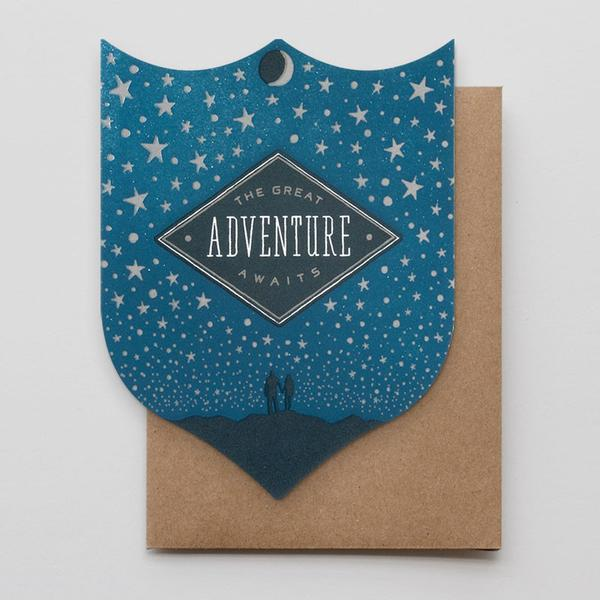 the great adventure awaits badge card